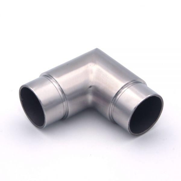 90° Eckbogen Verbindungsstück für Edelstahlhandlauf 42,4 mm Durchmesser