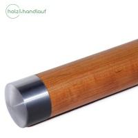 Holzhandlauf Kirsche mit Edelstahlteilen, 42mm Durchmesser, bis 4 m Länge nach Maß, fertig montiert