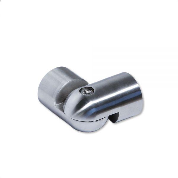 Edelstahlverbinder flexible Winkel für Holzhandlauf 42mm Ø