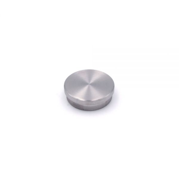 Endkappe flach für Edelstahlhandlauf 42,4 mm Durchmesser