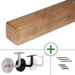 Holzhandlauf Eiche quadratisch, verschiedene Größen, bis 4 m Länge nach Maß