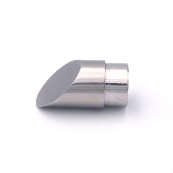 Endkappe abgeschrägt 45° für Edelstahlhandlauf 42,4 mm Durchmesser