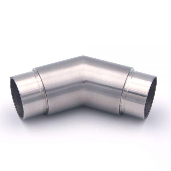 45° Eckbogen Verbindungsstück für Edelstahlhandlauf 42,4 mm Durchmesser